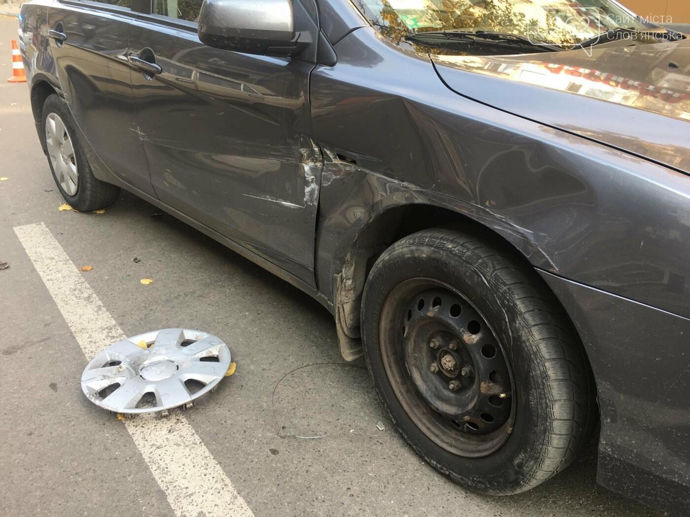 В центре Славянска произошло ДТП - фото, фото-2