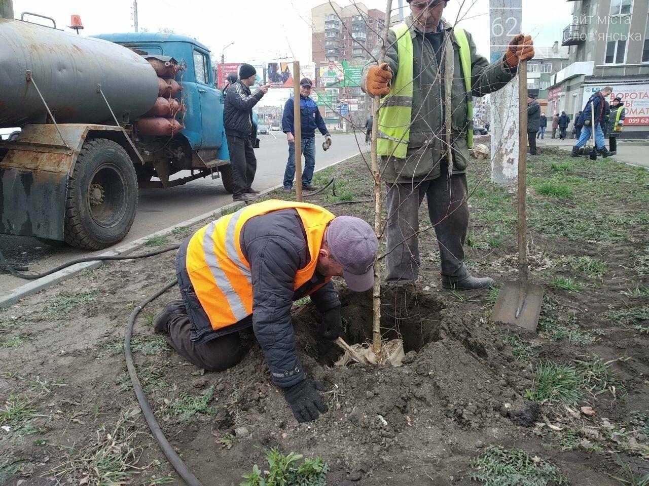 Сьогодні у Слов'янську садять дерева, фото-2