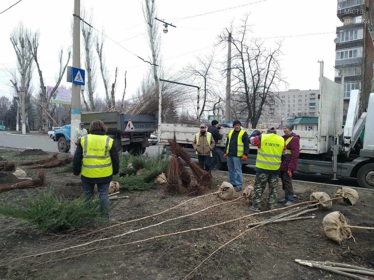 Сьогодні у Слов'янську садять дерева, фото-5