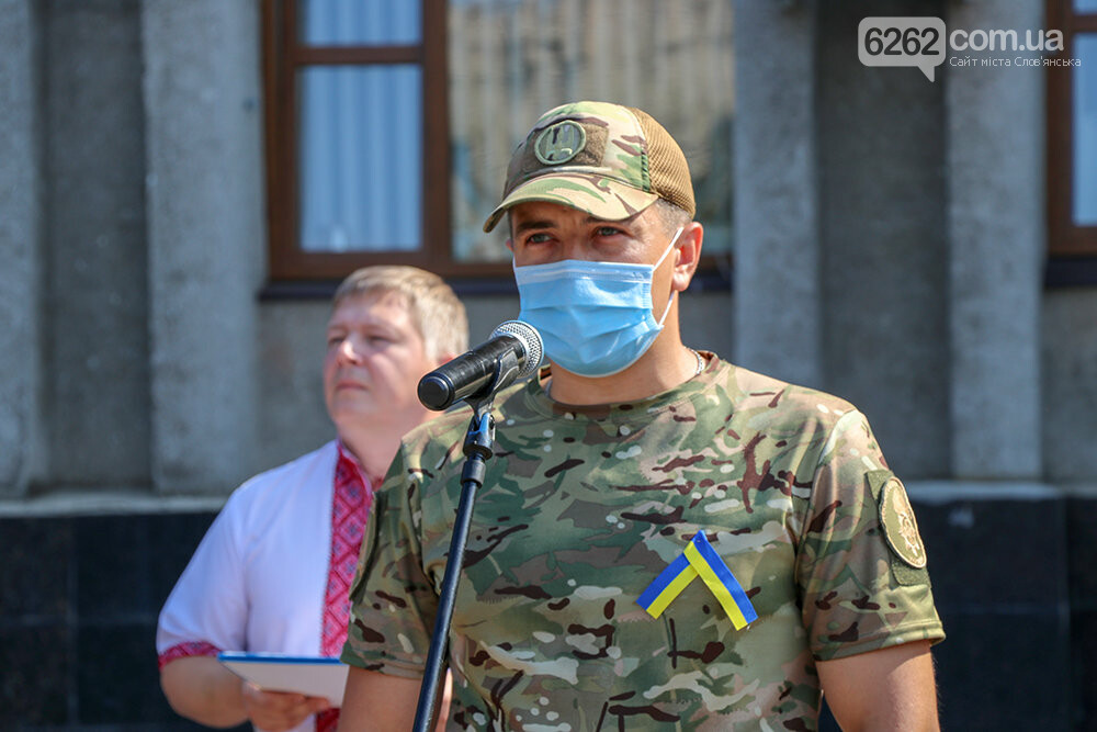У Слов'янську урочисто підняли Державний Прапор України, фото-10