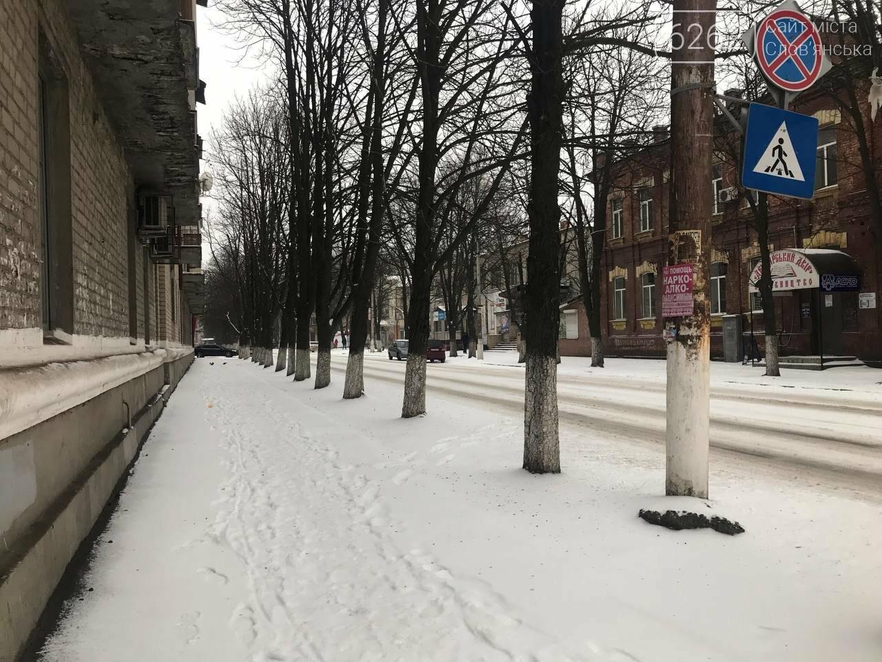 Засніжений Слов'янськ. Фоторепортаж з вулиць міста , фото-12