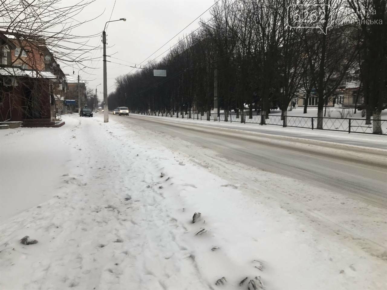 Засніжений Слов'янськ. Фоторепортаж з вулиць міста , фото-23