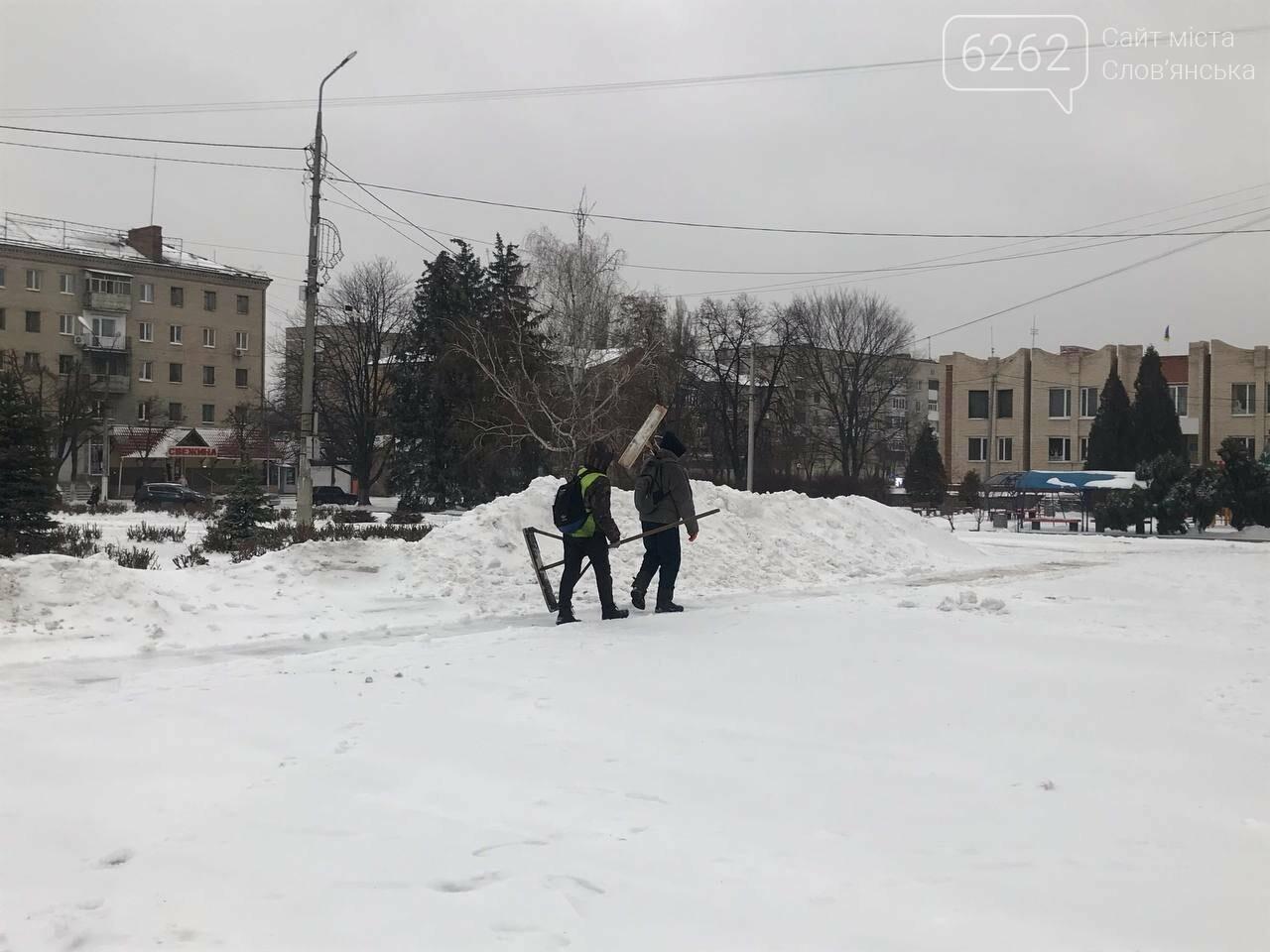 Засніжений Слов'янськ. Фоторепортаж з вулиць міста , фото-6