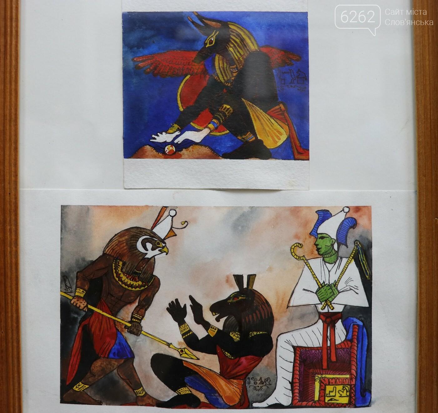 """Легенди Єгипту та казки - у музеї Слов'янська відкрилася виставка """"без олії"""", фото-2"""