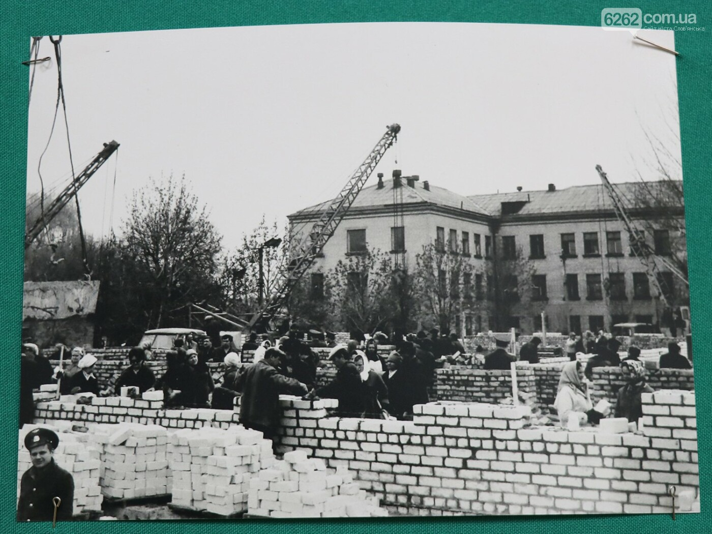 Будівництво полікліінки Клінічної лікарні у 70-х роках