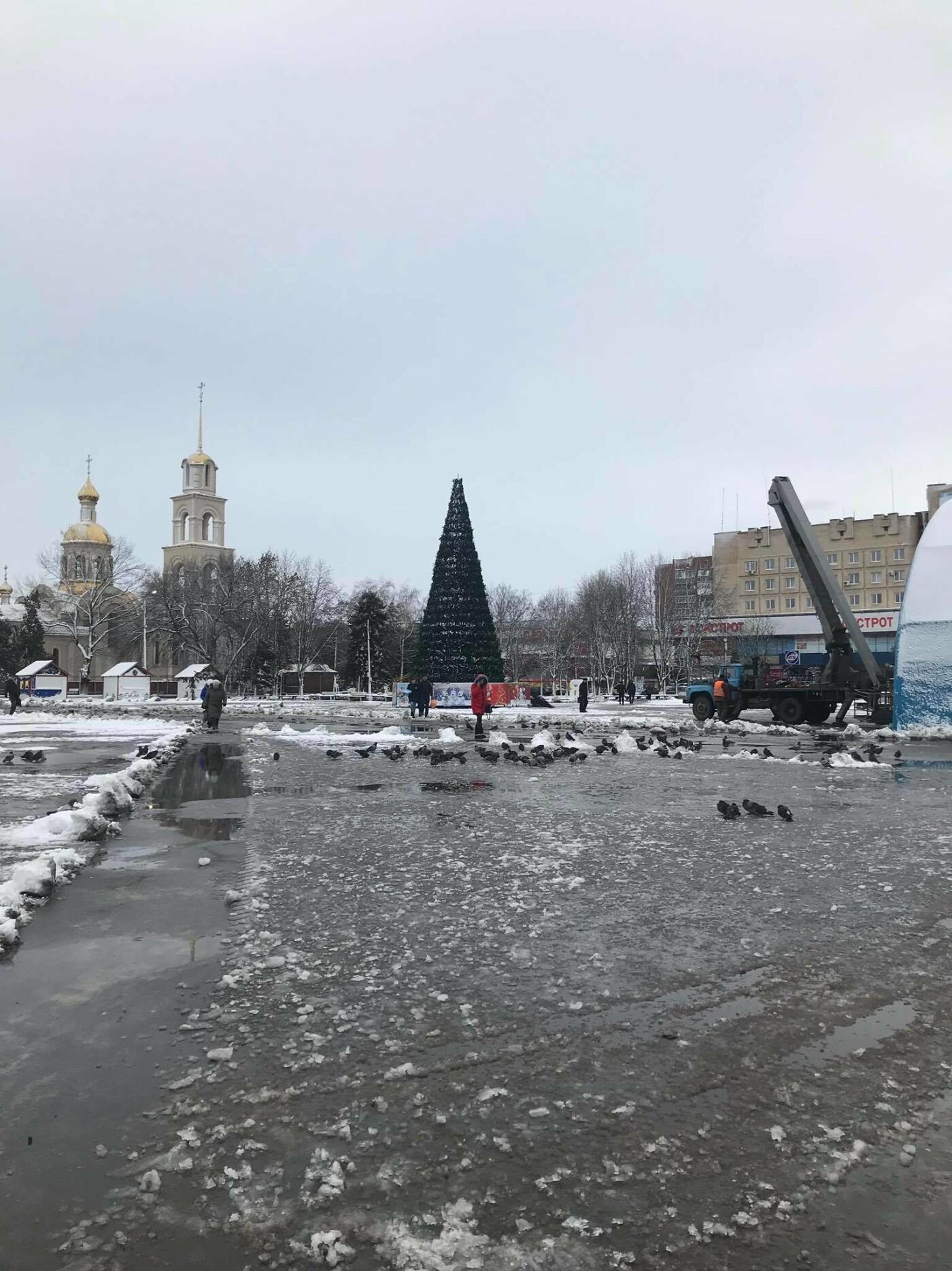 Новорічну ялинку у Слов'янську прибирають, фото-3