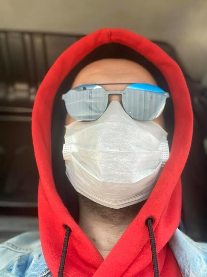 Мешканці Слов'янська у масках. Фото з соцмереж, фото-2