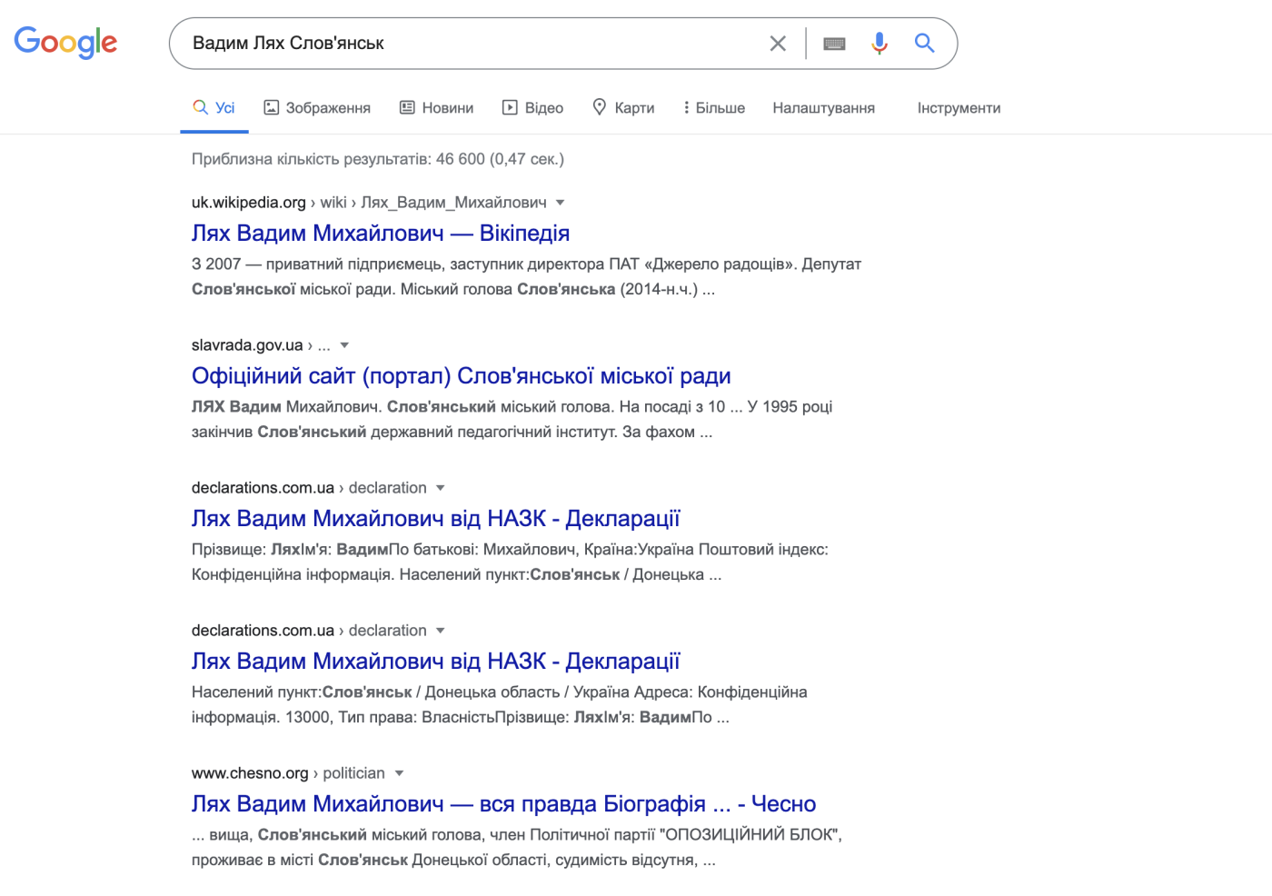 Що знає гугл про кандидатів у мери Слов'янська, фото-3