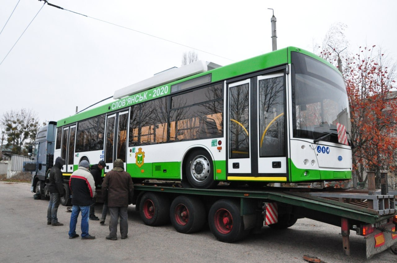 Ще один тролейбус на автономному ходу прибув до Слов'янська, фото-1