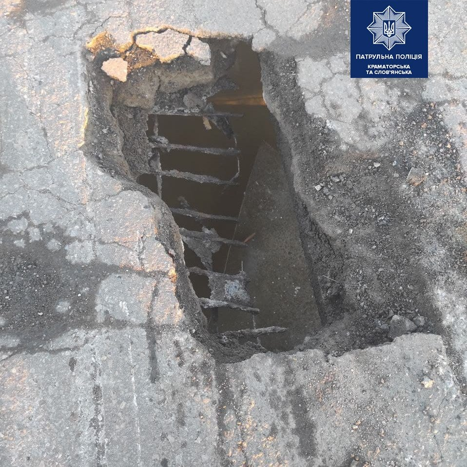 У Слов'янську частково провалився міст через річку Казенний Торець. Рух перекрито , фото-2