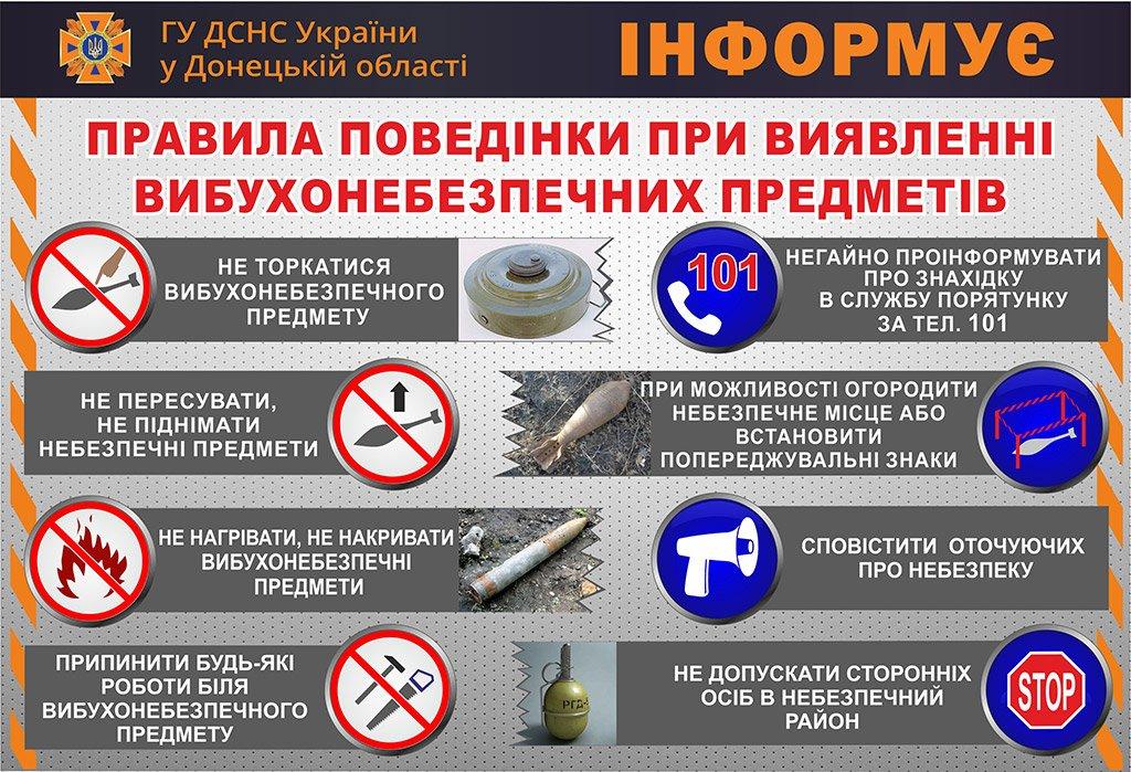 Рятувальники Слов'янська нагадали порядок дій у разі виявлення  вибухонебезпечних предметів , фото-1